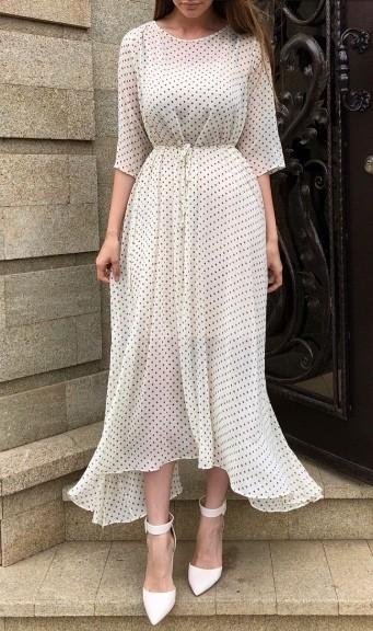 Воздушные и нереально женственные платья с принтом горошек