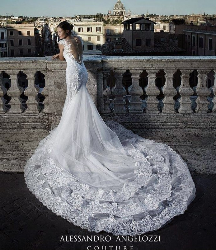 Bianca Balti for Alessandro Angelozzi Couture Bridal by Fabrizio Ferri